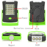 LED Flashlight with Built-in Magnet Hook - Camp Planning Store - Camping Gear and Gadgets