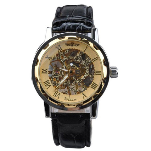 Men's Classic Skeleton Mechanical Watch-Camp Planning Store