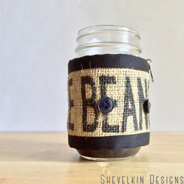 Adjustable Cozy Coffee Beans Text on Table
