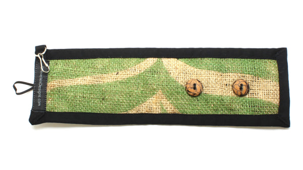 Reusable Adjustable Cozy Featuring Nature with Wooden Buttons