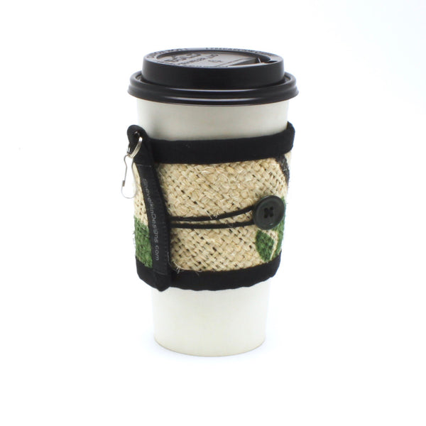 To Go Cozy Nature with Green Button on Large Cup