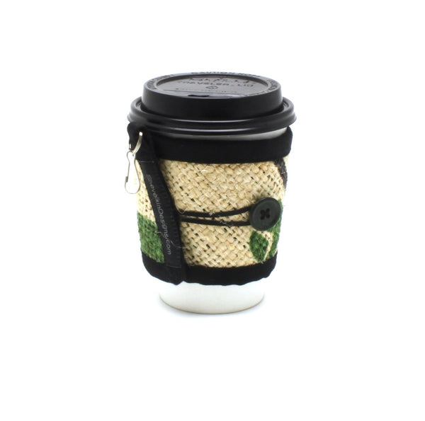 To Go Cozy Nature with Green Button on Small Cup