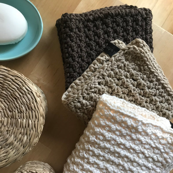 Farmhouse Cotton Washcloths 3 Pack