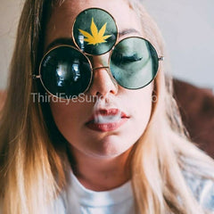 Marijuana Leaf Third Eye Sunglasses