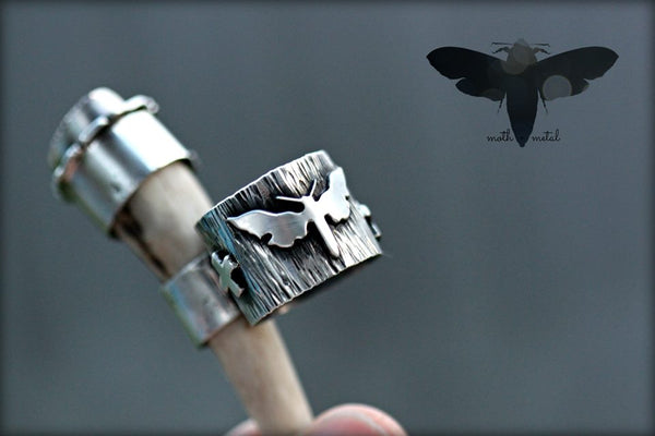 Antler ring. Sterling silver and royston turquoise.