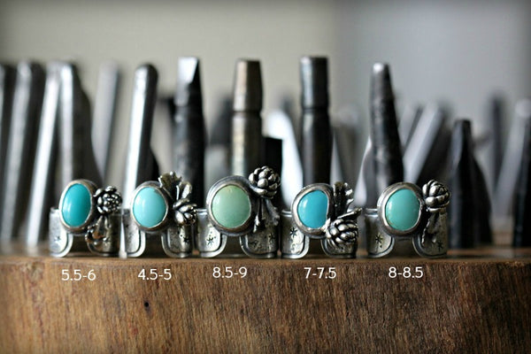Blue Moon Cicada Rings. Entomology Series.