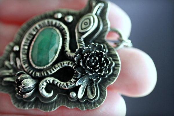 Emerald Serpent Seer Necklace.