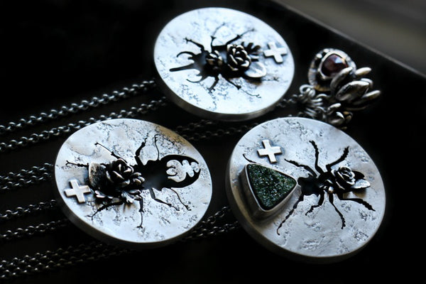 Entomology Necklace Rhino Beetle
