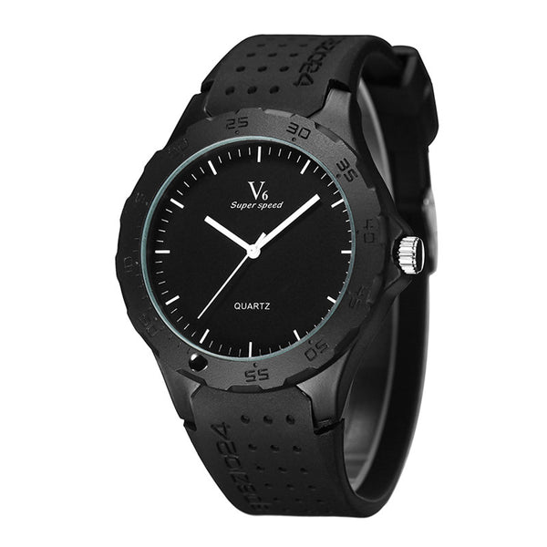 V6 Sports Watch with a Rugged Silicone Strap