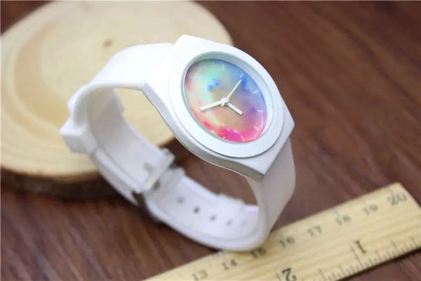 Galaxy Sports Watch with Silicone Strap