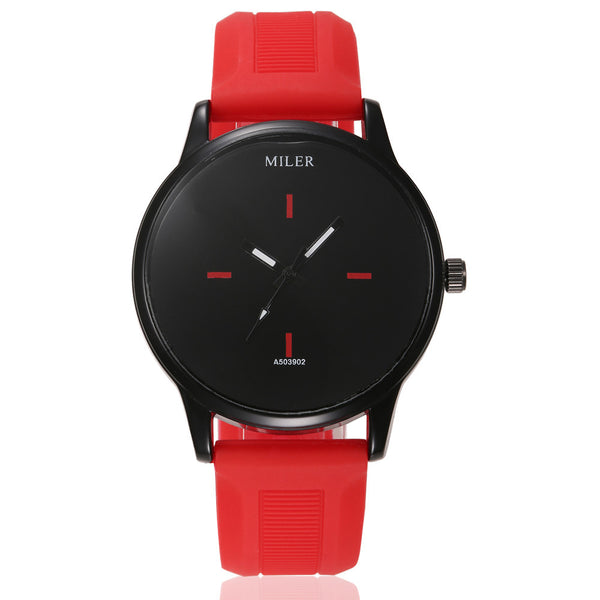Casual Sports Watch with a Silicone Band