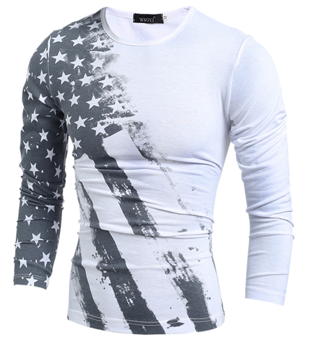 USA Flag Geometric Long Sleeve