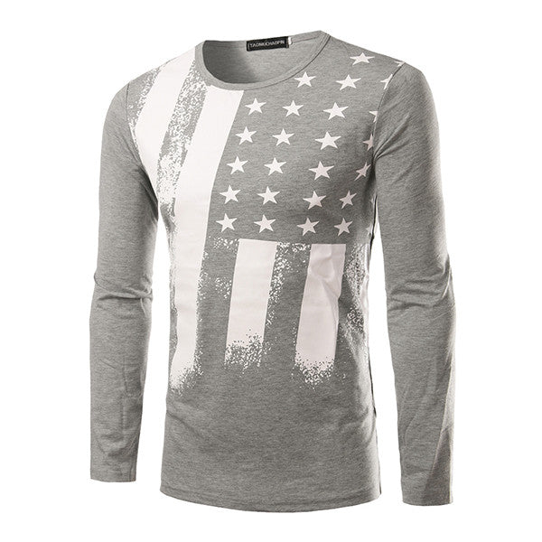 USA Flag Style Long Sleeve