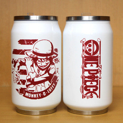 One Piece White Steel Mugs