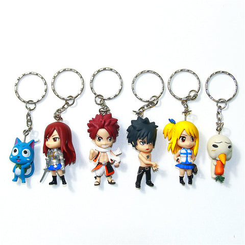 Fairy Tail Squad Key Chain Set