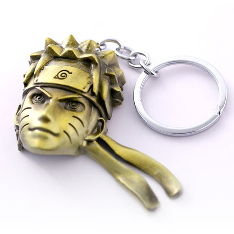Naruto Uzumaki Gold Head Key Chain