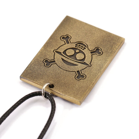 [FREE Item]One Piece Luffy Wanted Poster Necklace
