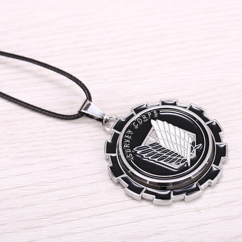 Attack On Titan Survey Corps Rotatable Necklace