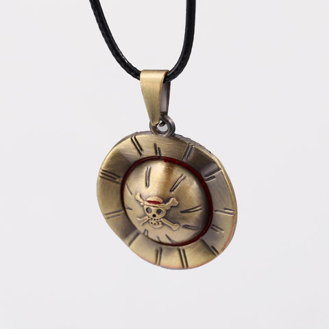 One Piece Luffy Straw Hat Necklace