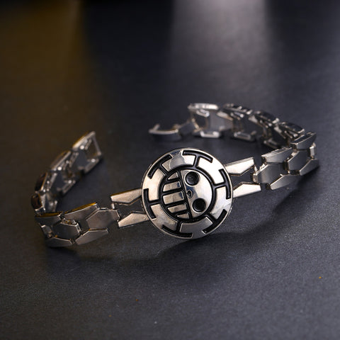 One Piece Trafalgar Law Silver Bracelet