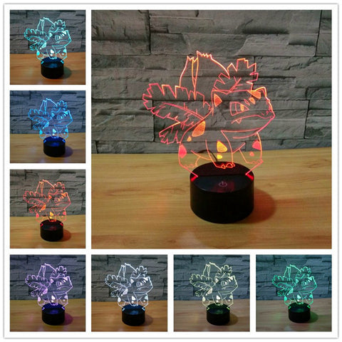 Pokemon Bulbasaur Color Changing Night Lamp