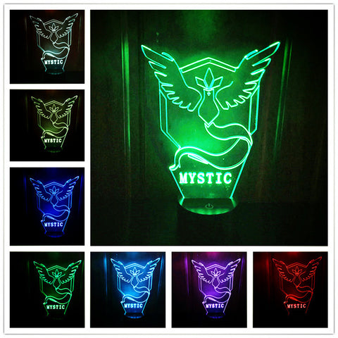 Pokemon Team Mystic Color Changing Night Lamp