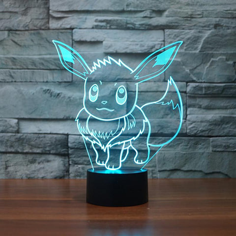 Pokemon Eevee Color Changing Night Lamp