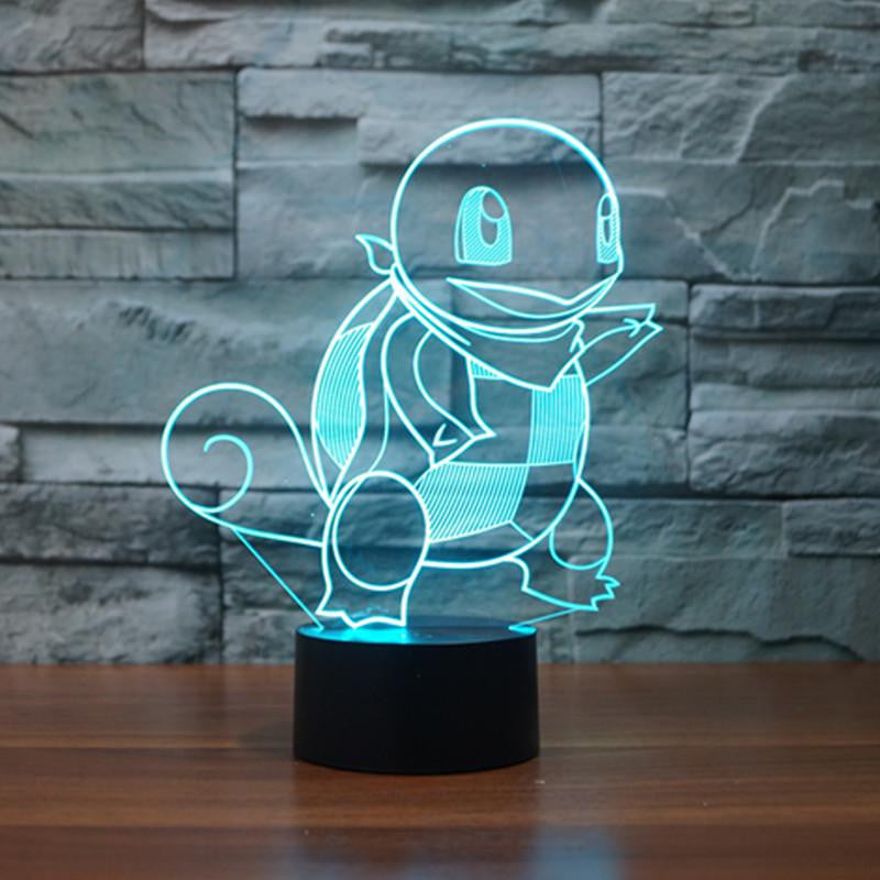 Pokemon Squirtle Color Changing Night Lamp