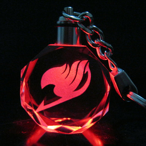 [Free Item] Fairy Tail Crystal LED Key Chain