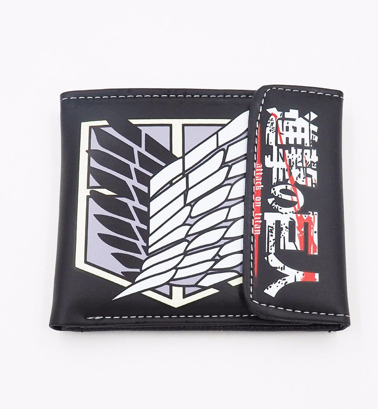 Attack on Titan Black Survey Corps Wallet