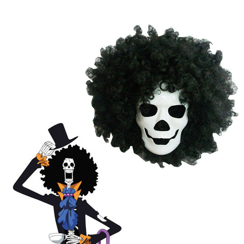 One Piece Brook Mask and Wig Cosplay Accessories