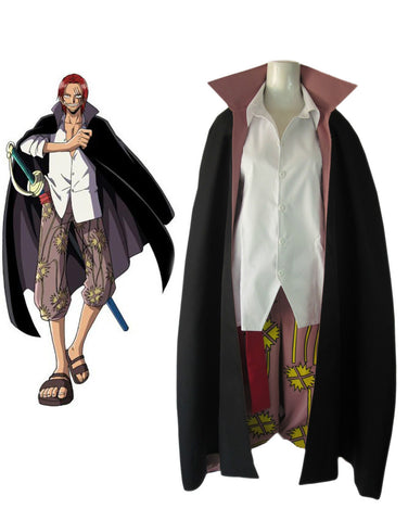 One Piece Shanks Two Years Later Cosplay Costume