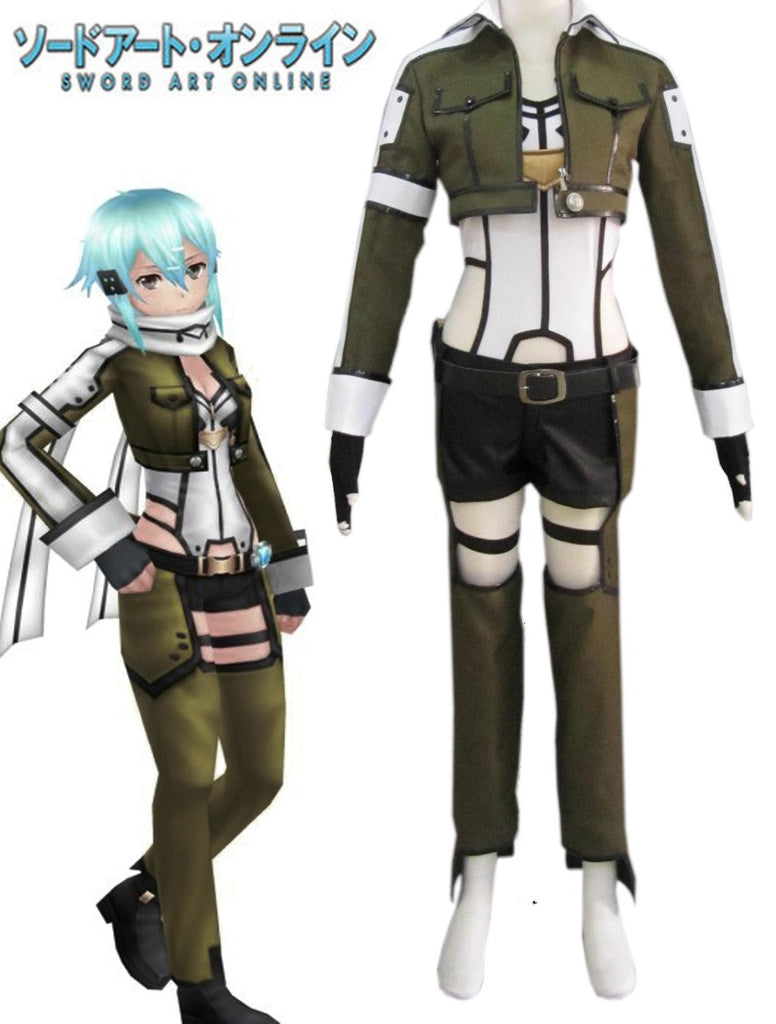Sword Art Online Sinon Gun Gale Cosplay Costume