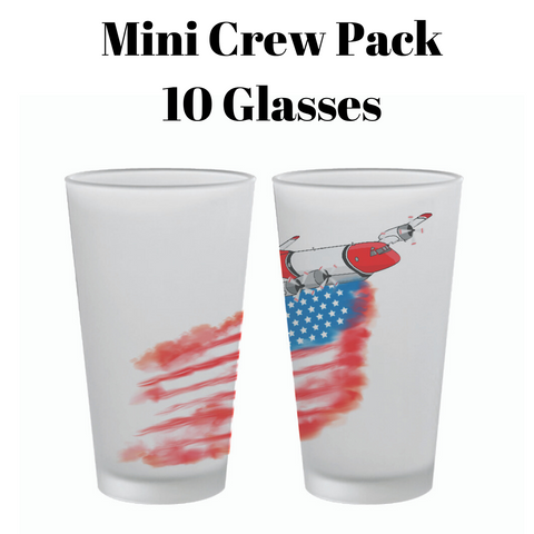 MINI CREW PACK - AMERICAN PLANE PINT GLASS