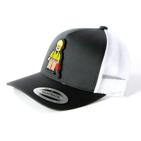 BURNER - SNAPBACK/CURVED BILL (CHARCOAL/WHITE MESH)