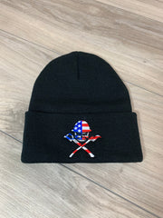 AMERICA OLD SKOOL -  BLACK BEANIE