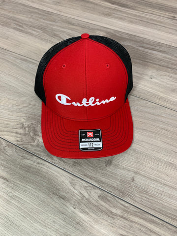 CUTLINE- EMBROIDERED  3D - (BLK/RED)