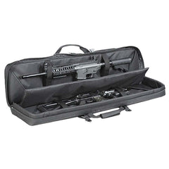 Voodoo Tactical 42  Deluxe Padded Weapon Case w/ 6 Black Locks Black 15-9648001000