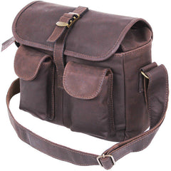 Brown Leather Ammo Shoulder Bag