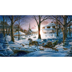 Racing Home;  Framed Master Canvas by Terry Redlin - F701440489