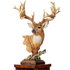 Noble Bearing - Whitetail Deer;  Sculpture by Greg Peltzer - 6567523865