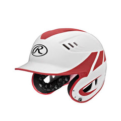 Rawlings Velo Series Junior 2-Tone Home Batting Helmet-Red R16H2J-W/MS