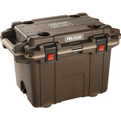 Pelican™ 50 Qt Elite Cooler - Brown with Tan Trim