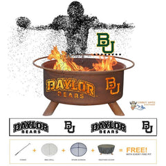 Baylor Fire Patina College Fire Pit