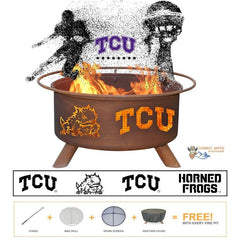 TCU Fire Patina College Fire Pit
