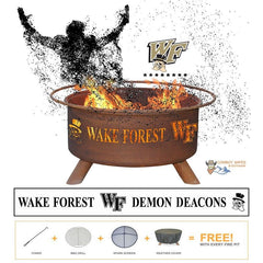 Show Your Pride and Entertain your Friends with the Wake Forest University Fire Pit! – College Fire Pit