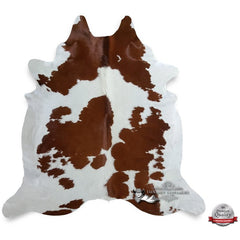 Brown and White Cowhide Rug - Origin: Brazil