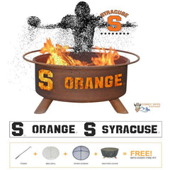Syracuse Orange Steel Fire Patina College Fire Pit