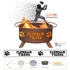Show Your Pride and Entertain your Friends with the Clemson Tigers Steel Fire Pit! – College Fire Pit