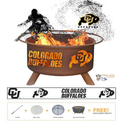 Colorado Buffaloes Steel Fire Patina College Fire Pit